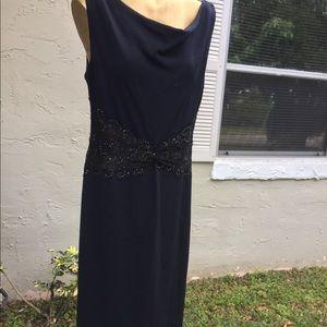 St. John Evening Dress Navy Blue Size 12